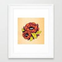 Grim Blossom Framed Art Print