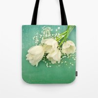 French White Tulips And … Tote Bag