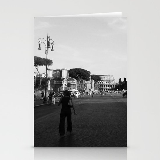 all roads lead to rome Stationery Card