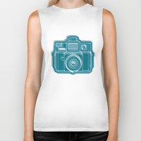 I Still Shoot Film Camera Logo Biker Tank