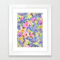 Flaunting Floral Periwin… Framed Art Print
