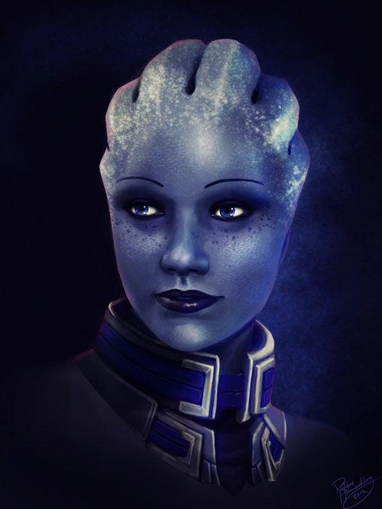 Mass Effect: Liara T'soni Canvas Print