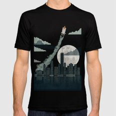 Rocket City Black SMALL Mens Fitted Tee