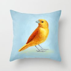 Wild Canary Throw Pillow