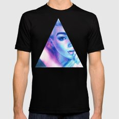 Technicolor Triangle Sh*t Mens Fitted Tee SMALL Black