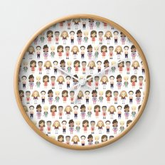 Saved by the Bell Pattern Wall Clock