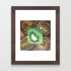 Fresh: Kiwi Framed Art Print