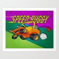 Speed Buggy Art Print