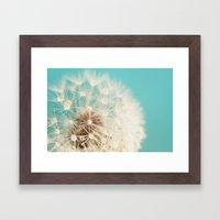 Dandelion With Waterdrop… Framed Art Print