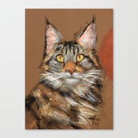 Modern Cat Canvas Print