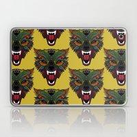 wolf fight flight ochre Laptop & iPad Skin