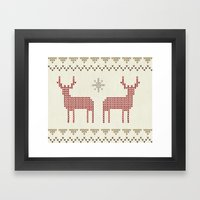 Knitted Framed Art Print