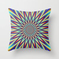 Red Blue And Yellow Supe… Throw Pillow