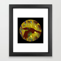 The Rook And The Moon Framed Art Print