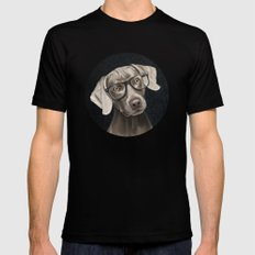 Mr Weimaraner SMALL Black Mens Fitted Tee
