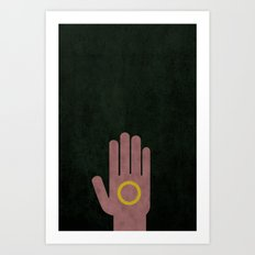 Lord of the Rings Minimalist Posters: Fellowship Art Print