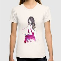Don't Look Now Womens Fitted Tee Natural SMALL