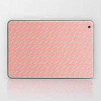 80's Pastel Stripes on Pink  /// www.pencilmeinstationery.com Laptop & iPad Skin