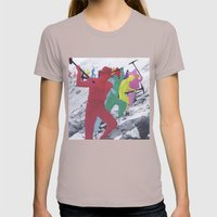 Chain Gang Womens Fitted Tee Cinder SMALL