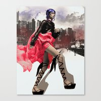 Red City Canvas Print