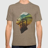 Out Of Mind Mens Fitted Tee Tri-Coffee SMALL