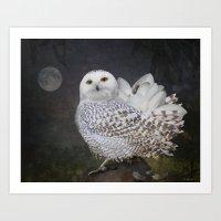 If an owl became a magnolia Art Print