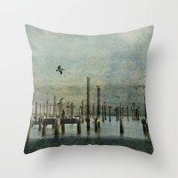 Pelicans Landing Throw Pillow