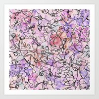 Scattered Floral Art Print