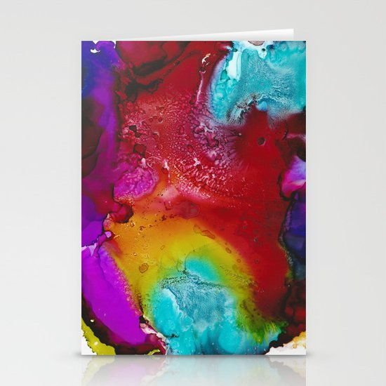 Ink Splash Stationery Card
