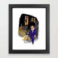 The Purple Kid Framed Art Print