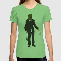 The Dark Knight: Scarecr… Womens Fitted Tee Grass SMALL