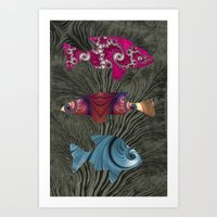 A Tale Of Three Fishes Art Print