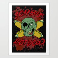 Zombie Hotdogs Part Deux Art Print