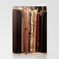 Old Books (brown) Stationery Cards