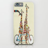 iPhone Cases featuring giraffe days lets tandem by bri.buckley