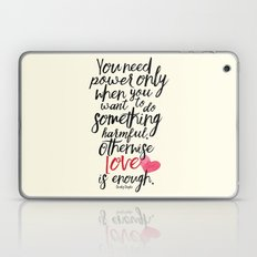 Love is enough - Chaplin sentence Illustration Laptop & iPad Skin