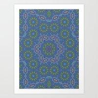 Lace Kaleidoscope Art Print