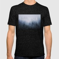 Misty fantasy forest. Mens Fitted Tee Tri-Black SMALL