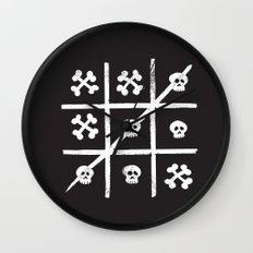 Skull + Bones Wall Clock