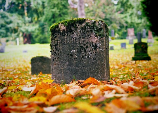 Graveyard Autumn Art Print