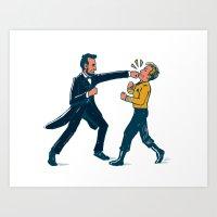 Abe Lincoln VS Captain K… Art Print