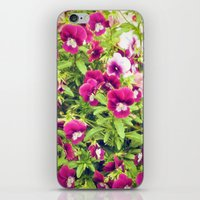Pretty violets iPhone & iPod Skin