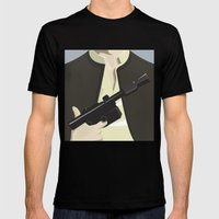 Han Solo - Starwars Mens Fitted Tee Black SMALL