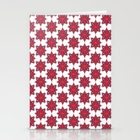 Flowery Red Stationery Cards