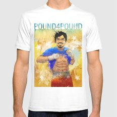 Manny Pacquiao - Pound 4 Pound White Mens Fitted Tee SMALL