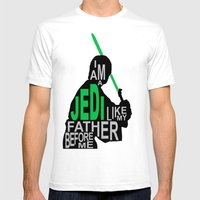 I Am A Jedi Mens Fitted Tee White SMALL