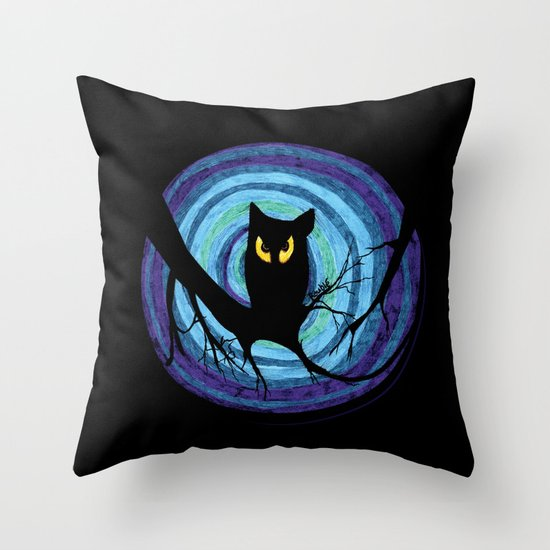 time for child stories: the EVIL OWL Throw Pillow