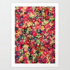 Where The Flowers Cry Art Print