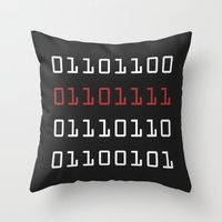 Binary Love Throw Pillow