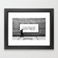 THIS TOO SHALL PASS Framed Art Print